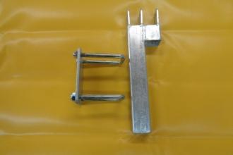 Стойка комплект със скоби и планка